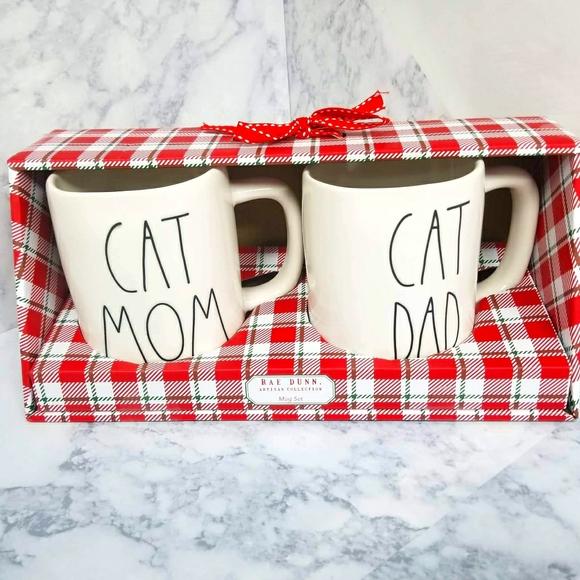 Rae Dunn Cat Mugs - 2
